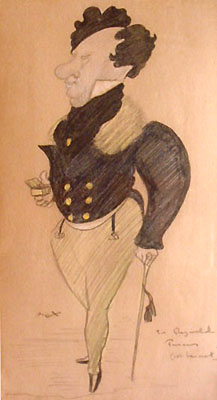 Photo of Max Beerbohm drawing